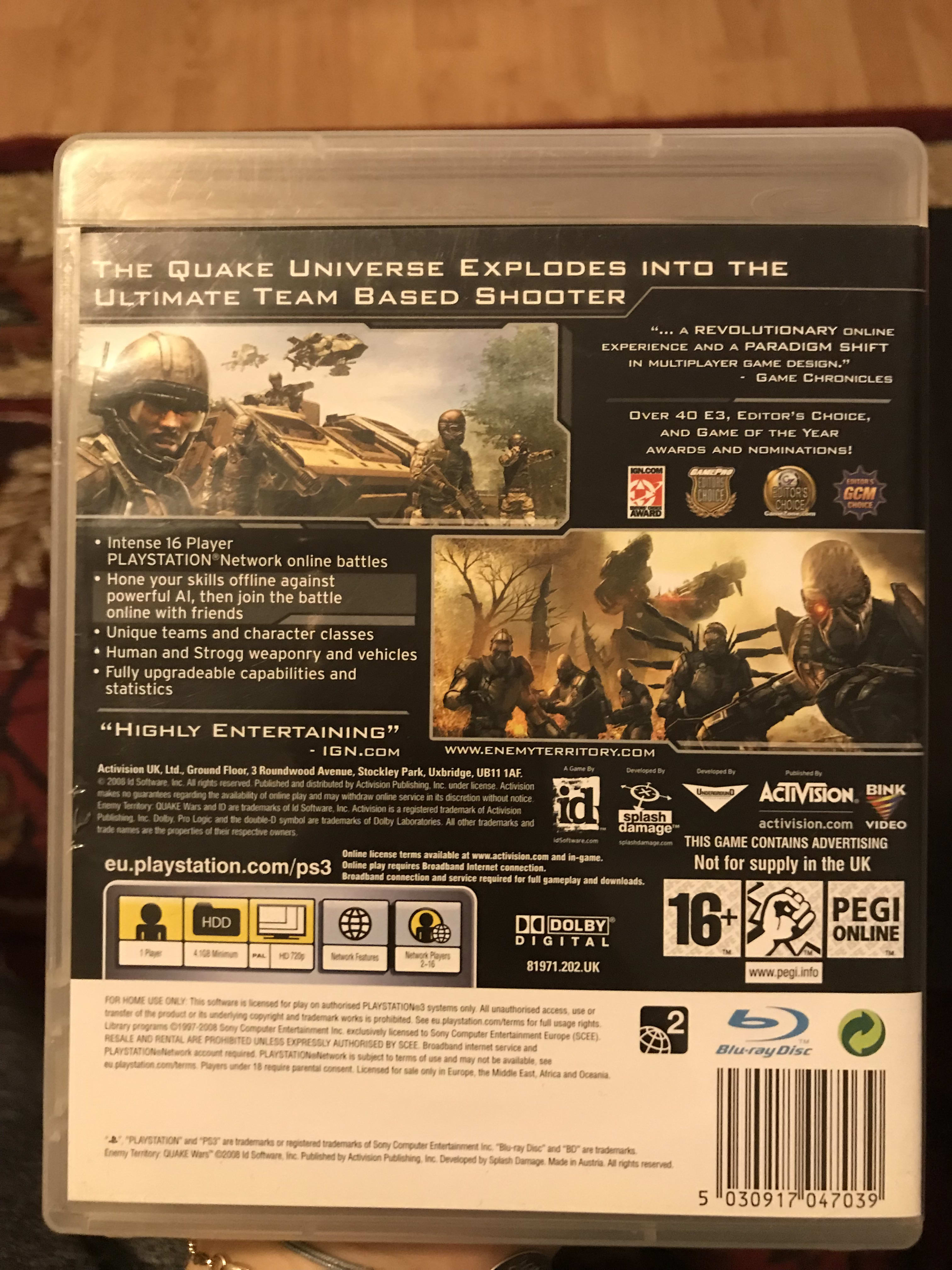 Picture 3 for Enemy Teritory Quake Wars Playstation 3