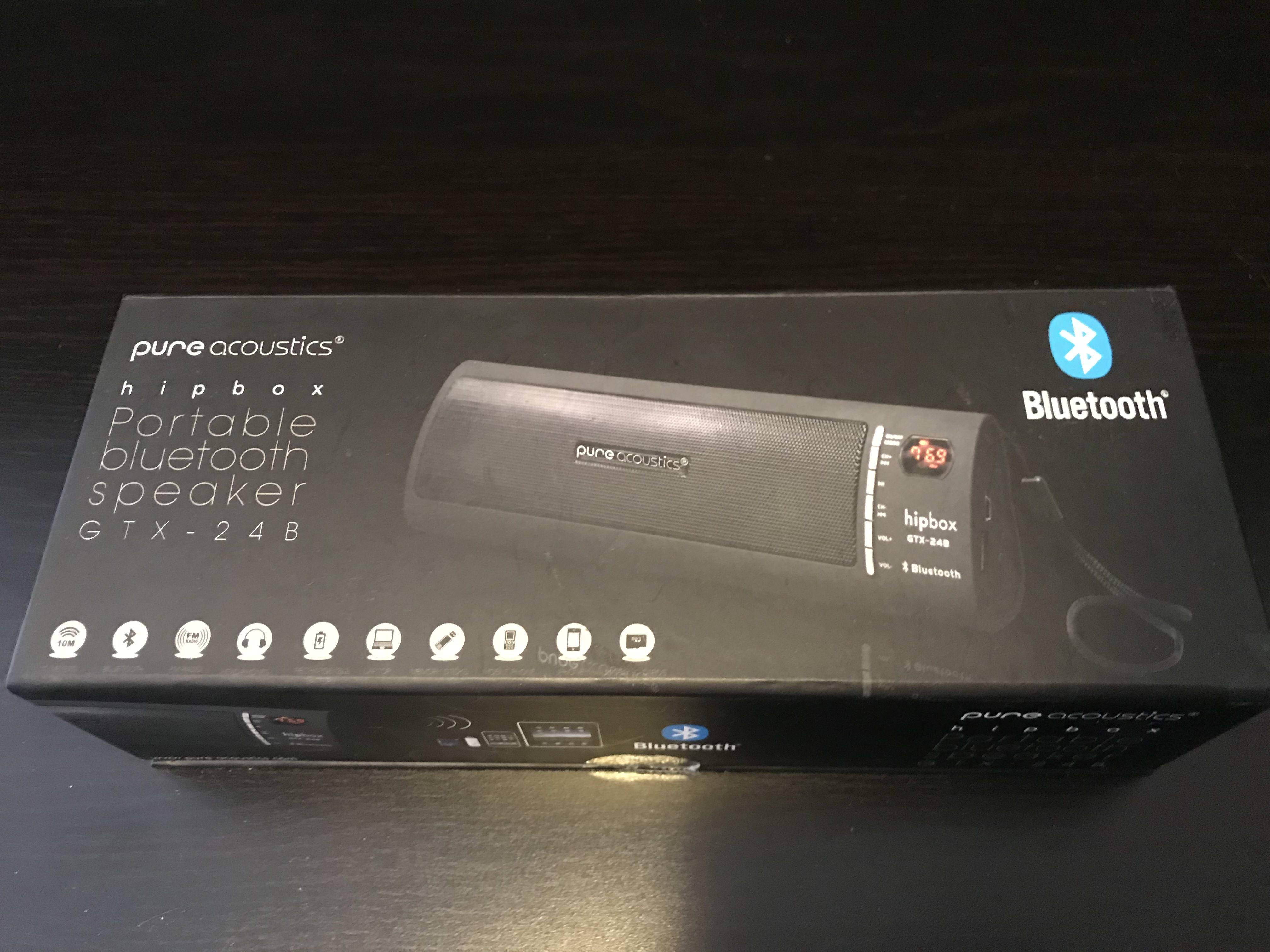 Picture 1 for Pure acoustics hipbox portable bluetooth speaker GTX - 24B