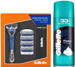 Gillette Fusion Razor Plus Carts 4s Sensitive Foam 418 g 2 Items in the set