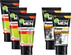 Garnier Acno Fight Anti-Pimple and Power White Pollution Double Action Face Wash(125 g)