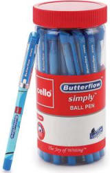 Cello Butterflow Simply Ball Pen Jar Ball Pen Pack of 25