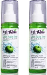 NutriGlow Green Apple Toner With Green Apple Extract and Vitamin A, C & E Men & Women 240 ml