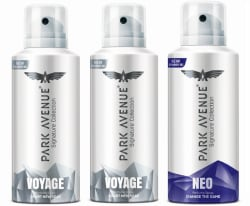 Park Avenue Signature - Voyage, Neo Deodorant Spray - For Men 450 ml, Pack of 3