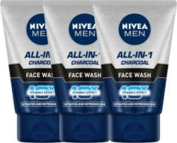 NIVEA MEN Oil Control All In 1 Face Wash 100 ml - Pack of 3 Face Wash 300 ml