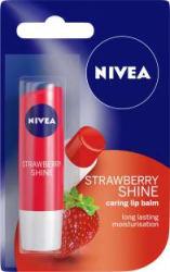 NIVEA Shine Caring Lip Balm Strawberry Pack of: 1, 4.8 g