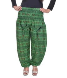 Buy Rajasthani Sarees Green Cotton Pajamas Online at Best Prices in India - Snapdeal