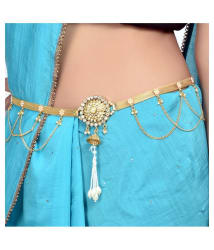 Prita s Partywear Gold Plated Beautiful Belly Chain (Kamarband) for Women/Girls: Buy Prita s Partywear Gold Plated Beautiful Belly Chain (Kamarband) for Women/Girls Online in India on Snapdeal