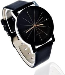 lik Prizam Glass Black Dail Watch - For Girls IIK BLACK Analog Watch - For Men