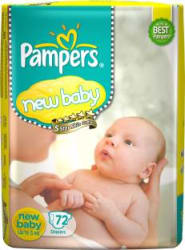 Pampers Active Baby Diapers - New Born(72 Pieces)