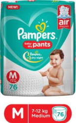 Pampers Baby-Dry Pants Diaper - M 76 Pieces