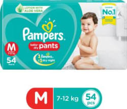 Pampers Baby-Dry Pants Diaper - M 54 Pieces