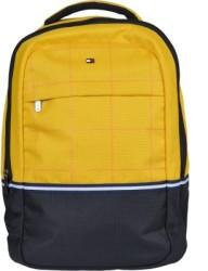 Tommy Hilfiger Biker Club Atlas 21.6 L Medium Laptop Backpack Black, Yellow