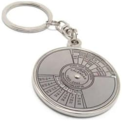 Delhideals Metal Key Ring With 50 Years Calender Big size
