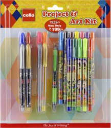 Cello Project and Art Stationery Set(Pack of 21)