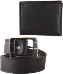 Fastfox Men Evening, Party, Formal, Casual Black Synthetic Belt