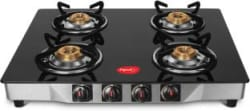 Pigeon Ultra Glass, Stainless Steel Manual Gas Stove 4 Burners