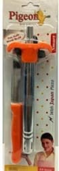 Pigeon with Free Knife Stainless Steel Gas Lighter Steel, Pack of 2