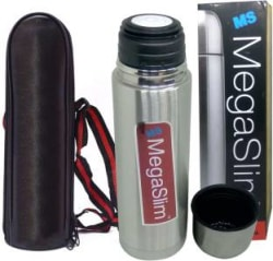M S Megaslim Premium Stainless Steel Thermal Insulated Hot & Cold Water bottle with cap/cup 500 ml Flask(Pack of 1, Steel/Chrome)