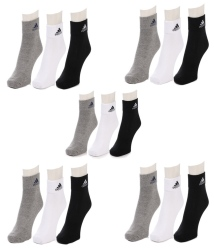 Adidas Multi Colour Cotton Ankle Length 15 Pair Of Socks