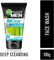 GARNIER MEN Oil Clear Clay D-Tox Deep Cleansing Icy Face Wash 100 g