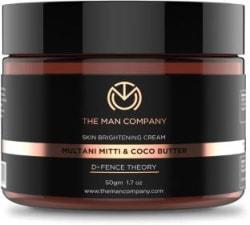 The Man Company Skin Brightening Cream- Multani Mitti & Coco Butter, Defence Theory 50 g
