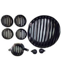 Protective Grill for Royal Enfeild Bullet 350 500x Accessories- Set of 8 (Plastic)