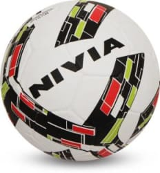 Nivia Storm Revolution Football - Size: 5 Pack of 1, Red, White