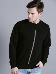 Kook N Keech Men Black Solid Sweatshirt