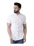 Club York White Short Sleeves Shirt