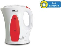 Inalsa Vapor Electric Kettle(1.2 L, Red, White)