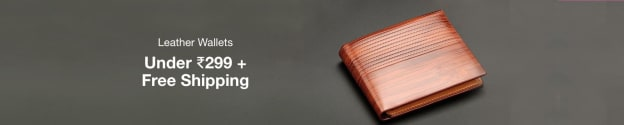Leather Wallets | Under Rs 299