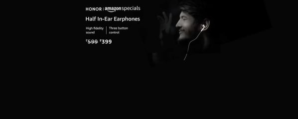 Honor AM115 Half in-Ear Earphones with mic: Electronics