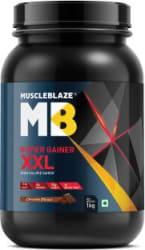 MuscleBlaze Super Gainer XXL Weight Gainers/Mass Gainers 1 kg, Chocolate