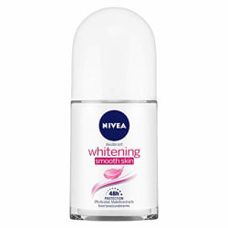 NIVEA Whitening Smooth Skin Deodorant Roll-on, 50ml, for Even Toned & Smoother Underams with Vitamin C & avocado extracts