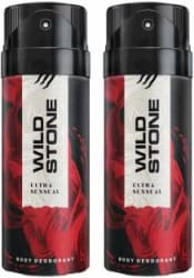 Wild Stone ULTRA SENSUAL ( PACK OF 2) Deodorant Spray - For Men & Women 150 ml, Pack of 2
