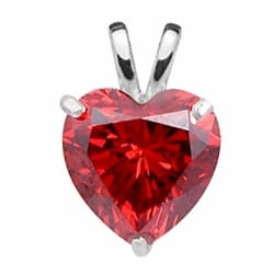 Ananth Jewels 925 Silver BIS Hallmarked Pendant with Chain Heart Shaped Swarovski Red Crystal Valentine Gift for Women