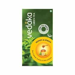 Amazon Brand Vedaka Green Tea, Lemon and Honey, 100 Bags