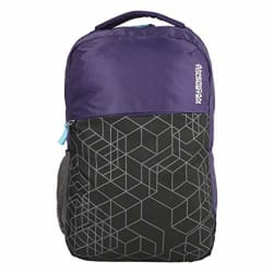 American Tourister Hoodie 02 Purple/Black Unisex Backpack