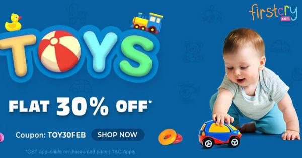 Flat 30% OFF on Toys Range