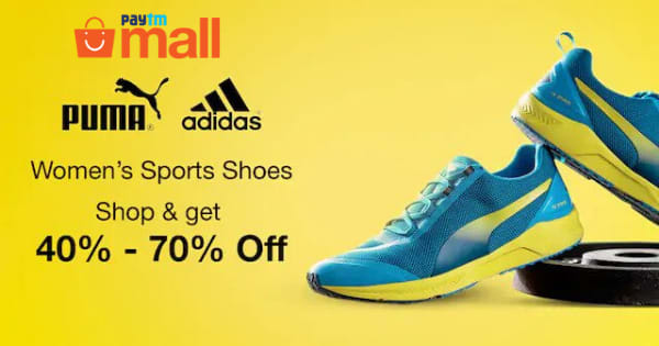 Min 40% OFF on Women Sports Shoes