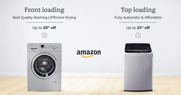 Up to 25% off on Washing Machines