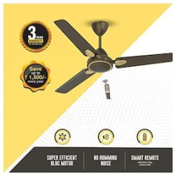 Atomberg Efficio+ Energy Saving 5 Star Rated with Remote and BLDC Motor 1200 mm Premium Ceiling Fan ( Earth brown , Pack of 1 )