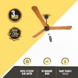 Atomberg Renesa+ with Remote Control and BLDC Motor 1200 mm Premium Ceiling Fan ( Oakwood , Pack of 1 )