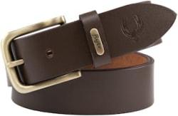 Flyer Men Brown Leather Belt (Size: 28 , Pack of 1 )
