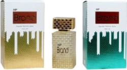 HP Brand Gold and Green Perfume 100ML Each (Pack of 2) Perfume - 200 ml For Men & Women