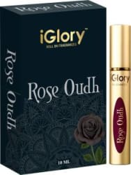 iGlory BEST COMBO OF ROSE FLORAL & OUDH / ATTAR FRAGRANCE, BRANDED PERFUME FOR MEN, 100% CONCENTRATED OIL, 100% ALCOHOL FREE, BEST QUALITY ROLL ON PERFUME, LONG LASTING ITTAR, BEST PERFUME FOR WOMEN - ROSE OUDH Perfume - 10 ml For Men & Women