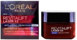 L Oreal New Revitalift Laser 3 Anti-Ageing Cream Mask Night 50 ml