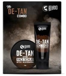 Beardo De-Tan Face Wash and De-Tan Face Scrub Combo Gift Box For Men