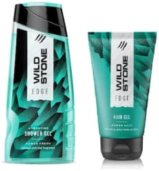 Wild Stone Edge Shower Gel (100 ml ) and Hairgel (50 ml) For Men - Pack of 2