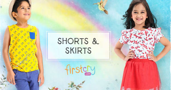 Up to 20% off on Kids Shorts, Skirts & Jeans